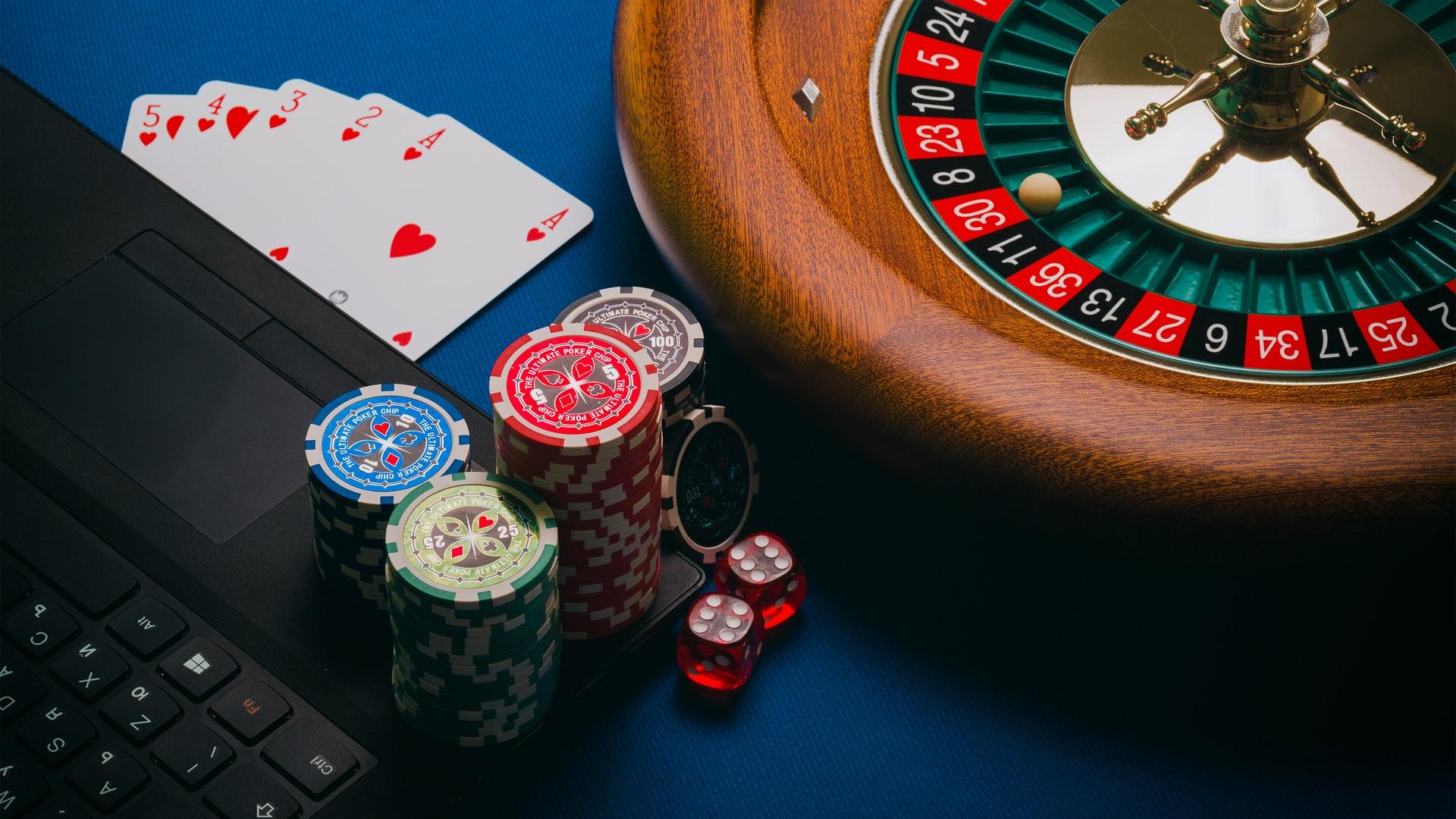 Online gambling stock image