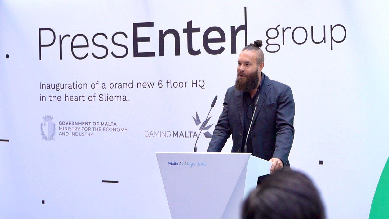 WATCH: Newly-rebranded PressEnter announces establishment of Malta HQ